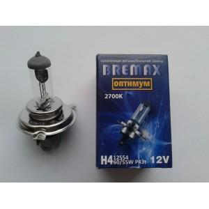 Галогенная лампа  H4 12в 55вт (цвет 2700к)