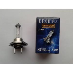 Галогенная лампа  H7 12в 55вт (цвет 2700к)
