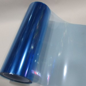 Тонировка фар голубая, глянцевая, 10 см