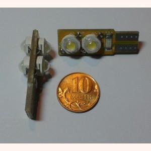 Светодиодная лампа T10 (Габарит) 4 средних диода